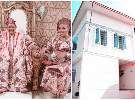 Alaafin of Oyo's wife celebrates her husband for building a Palace for her