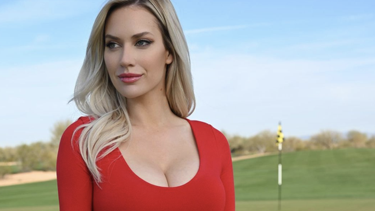 """Paige Spiranac says """"don't complain about cleavage"""" after runner's wardrobe malfunction"""