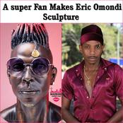 'Isikuwe Fake Kama Tattoo!' Kenyans React After Talented Duo Made Eric Omondi's Sculpture