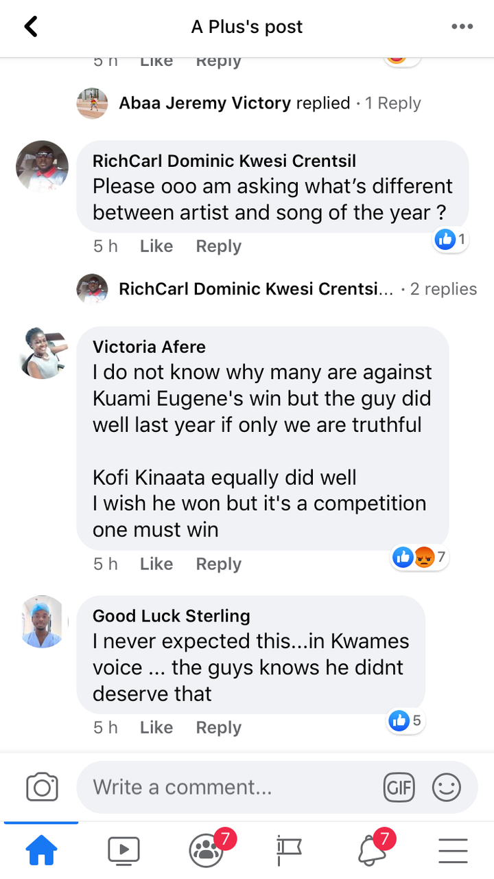 fb0909697bbb45ec9298f2a714a9da07?quality=uhq&resize=720 - Mixed Reactions On Social Media After Kuami Eugene Wins Artist Of The Year @ VGMA21