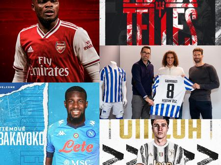 Done Deals: Young Ace Quit Arsenal, Bakayoko Joins Napoli, Telles To Man Utd, Partey Flies To London