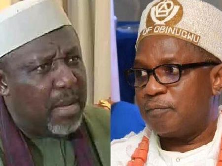 After This Popular Traditional Ruler Met Okorocha, See What He Did To Him That Caused Mild Drama