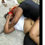 """""""What are we going to call this""""? See how these matured ladies battle with each other in a busy road"""