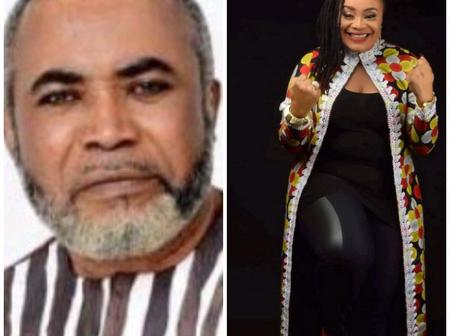 Zack Orji's Wife Stuns In A Beautiful Coloured Gown, Says,