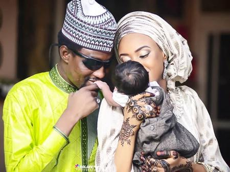 Photos Of Kannywood Singer, Nura M Inuwa, His Lovely Wife And Daughter