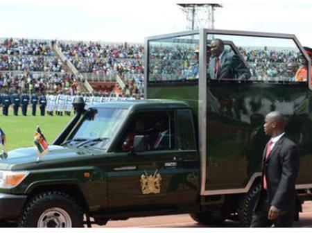 Details About President Uhuru Kenyatta's Ceremonial Armoured Land Cruiser Pickup (Photos)