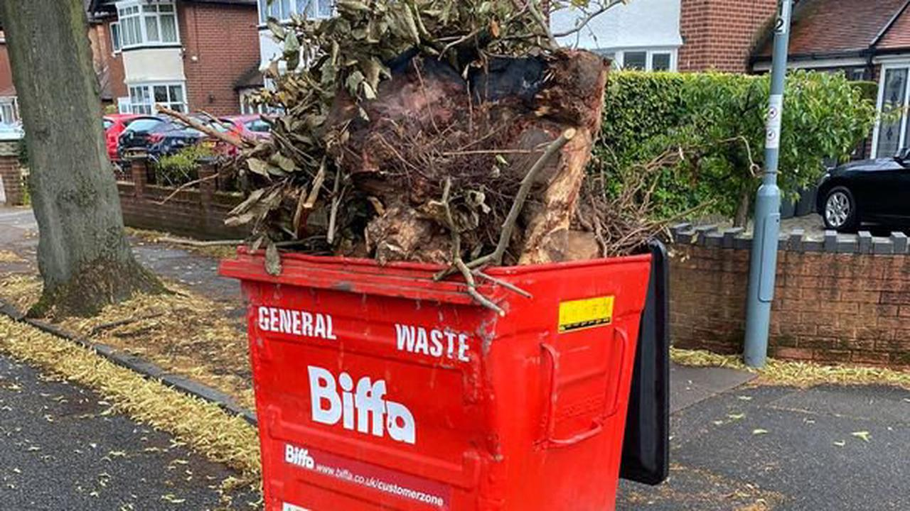 'Brazen gardeners took bin from local firm and dumped waste in Hodge Hill road' councillor claims