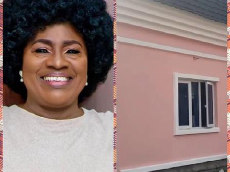 Popular Nollywood Actress, Mama Rainbow Gifted 2 Houses Gift By Company ( Photos)