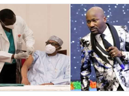 Apostle Johnson Suleman reveals why he can't take Covid-19 vaccine, says people must not be deceived