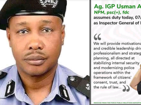 Nigeria Police Force Released Official Statement Concerning The Appointments Of New IGP