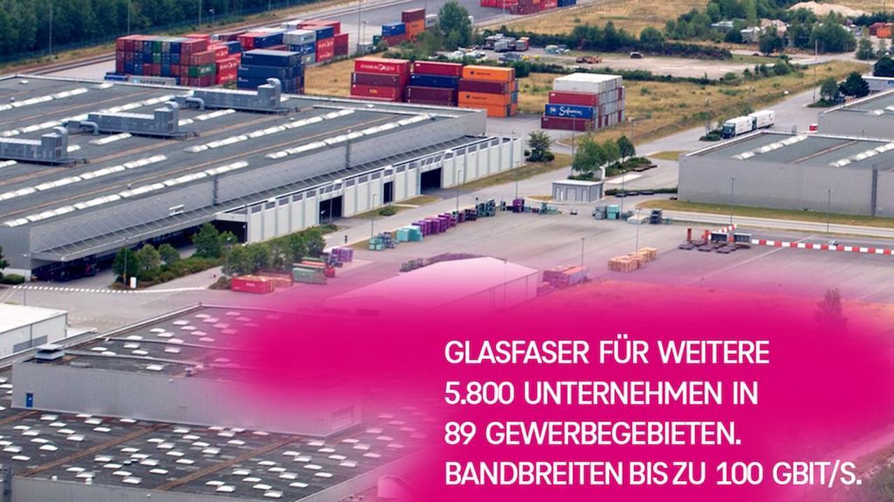 Telekom: Glasfaser für weitere 5.800 Unternehmen ›