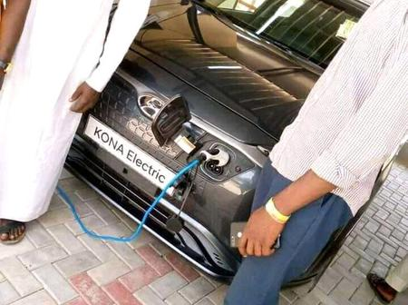 Photos of Nigeria's first ever electric car charging station.