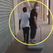 Chinese Boss Orders His Black Worker To Pull Him On A Trolley In Viral Video - Zimbabwe