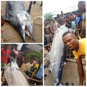 PHOTOS: See What A Fisherman Caught In A River In Rivers State
