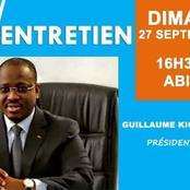Soro Guillaume parlera ce dimanche 27 Septembre sur Afrique Média
