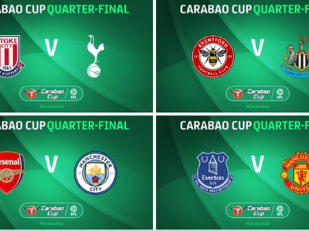Official: The Carabao Cup Quarterfinal draw and fixtures