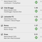 Super Thursday's Well Analysed VIP Multibets Including Manchester United, Club Brugge To Earn You big