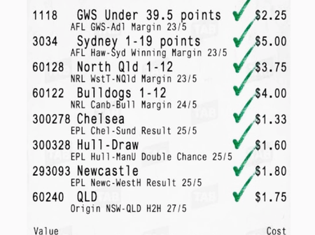 Friday Must Win slip to bank on and earn good cash