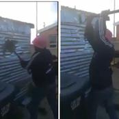 Reactions As A Man Breaks House He Built For His Girlfriend After Break Up (Video)
