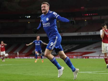 He's The Best Striker In The EPL - Fans Praises Vardy For Securing 1-0 Win Against Arsenal