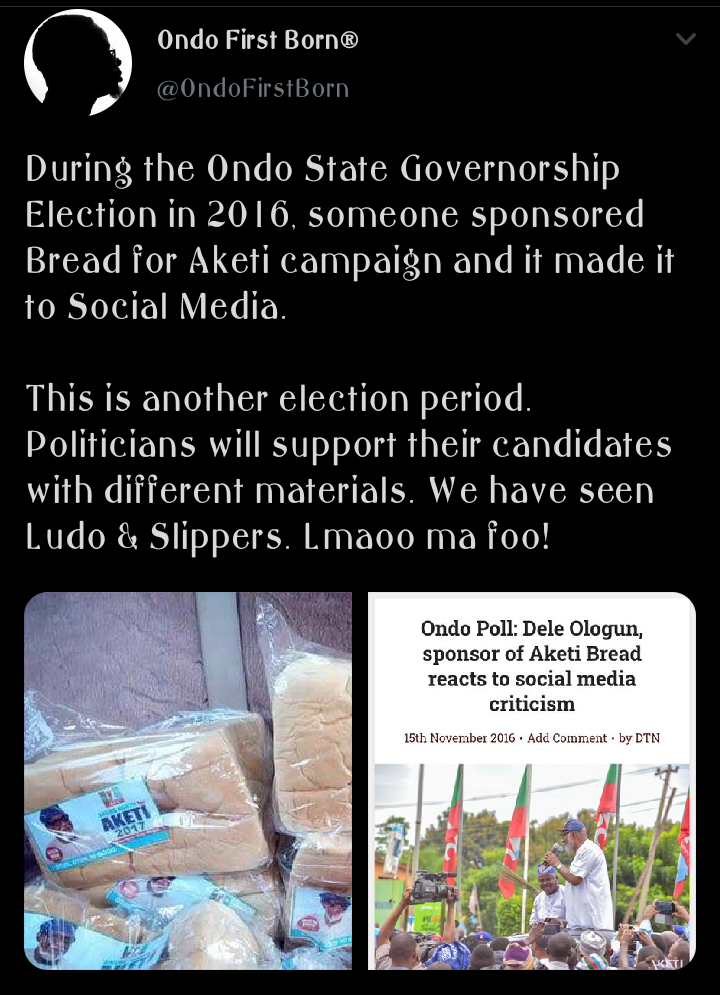 nigerians in shock as akeredolu distribute slippers, ludo and bread ahead of upcoming elections Nigerians In Shock As Akeredolu Distribute Slippers, Ludo and Bread Ahead of Upcoming Elections fbfdeb104998a49195dbd19d275834a1 quality uhq resize 720 nigerians in shock as akeredolu distribute slippers, ludo and bread ahead of upcoming elections Nigerians In Shock As Akeredolu Distribute Slippers, Ludo and Bread Ahead of Upcoming Elections fbfdeb104998a49195dbd19d275834a1 quality uhq resize 720