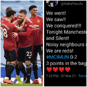 Aisha Yesufu Celebrates Man Utd Victory Over Man City, See How People Reacted