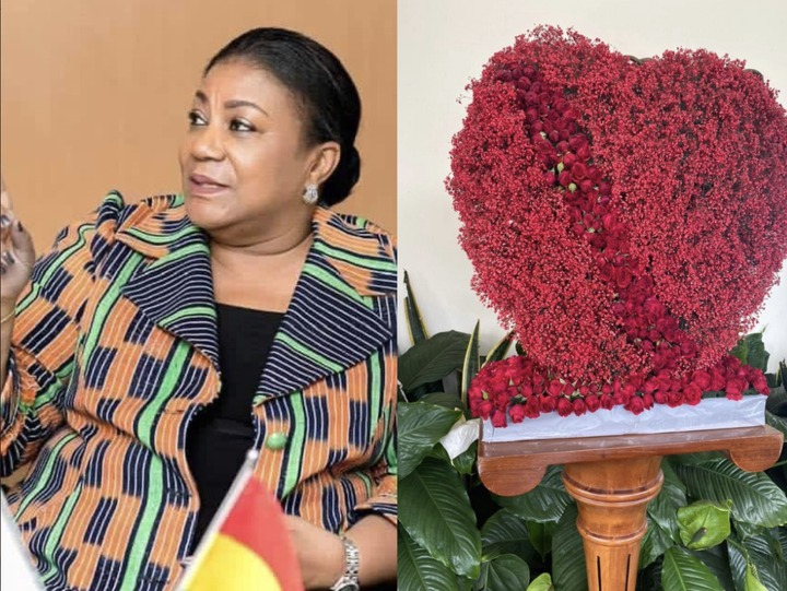 fc3e88d713cb496291bc9c27525dd580?quality=uhq&resize=720 - Madam Rebecca Akufo-Addo Share What She Got On Valentine's Day From Her Husband With An Appreciation