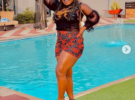 Makhadzi left fans in a frenzy with her incredibly beautiful pictures on social media.