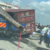 Lucky Driver Survives This Nasty Road Accident in Changamwe Mombasa