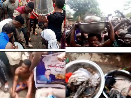 Outrage as popular pastor caught with human head, charms inside his church (Photos, Video)