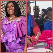 Veteran Actress, Iya Rainbow Receives A New Car Gift From A Company (Photos)