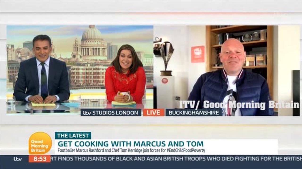GMB's Adil Ray demands Tom Kerridge's fish finger sandwich recipe as he interrupts TV chef