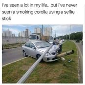 The Traffic Collision Made me Think That the car was Smoking