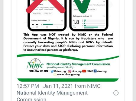 3 Deadly Things Criminals Could Do With The Fake NIMC App.