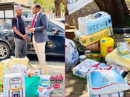 Hon Alinur Has Given Omosh Tahidi High Ksh 60,000 Cash and Goodies Worth Ksh 50,000