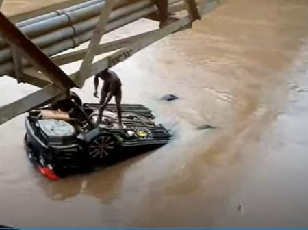 One dead, another cannot be seen as speeding car takes a dunk in Akora river
