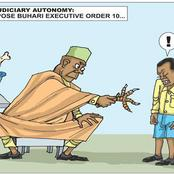 Punch Newspaper Releases Cartoon As Governors Oppose Buhari's Executive Order 10