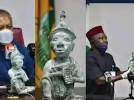 Historic Ile Ife artefact returned to Nigeria after being stolen years ago