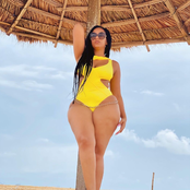 Stunning: Actress Juliet Ibrahim Shows off Her Sexy Curves in New Swimsuit Photos