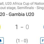 Ghana u20 reach the Final in the Africa Cup of Nations after a 1-0 win against Gambia u20.(Opinion)