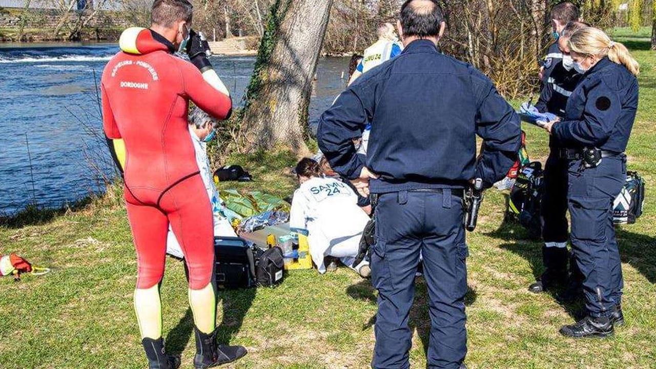 Dordogne: un homme dans un état grave après une chute dans l'Isle