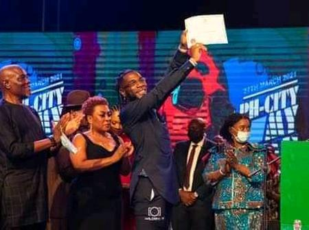 Burna Boy Receives Second Highest Honour From The River State Government (Photos)