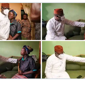Emotional Photos of Wife of Airforce Officer Who Died in Plane Crash as Fayemi Pays Condolence Visit