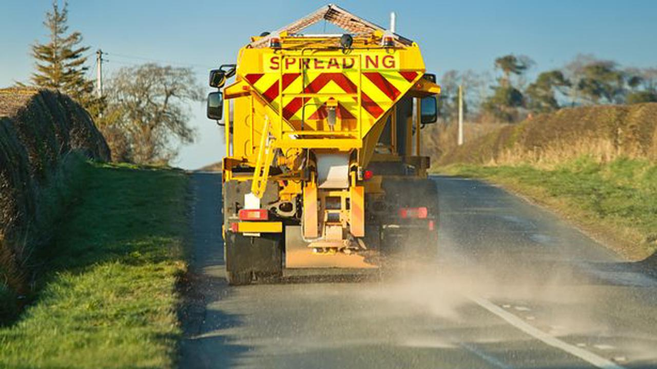 Gritters out across county as temperature drops