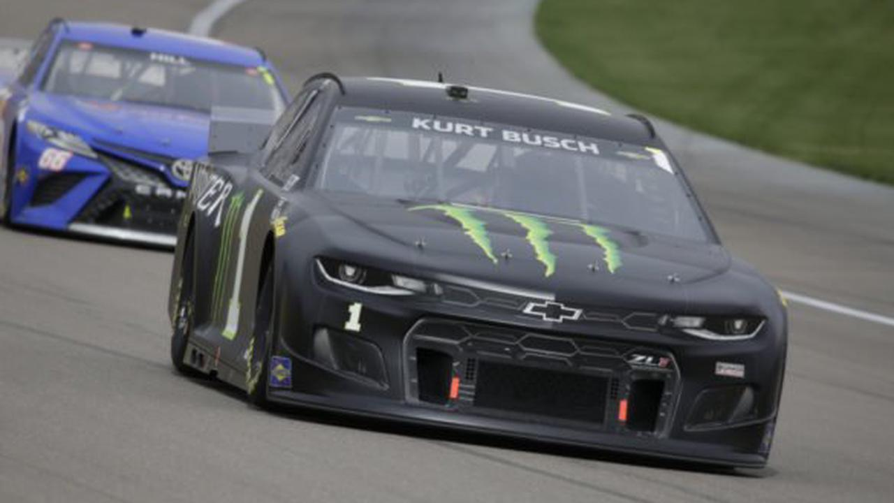 WATCH: Kurt Busch's Car Catches Fire in Inferno at NASCAR Cup Series at Darlington