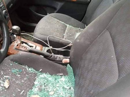 Lady Destroyed Her Boyfriend's Car After He Broke Up With Her