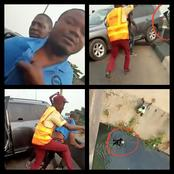 Video: See The Moment A Driver Hits A LASTMA Official Off A Bridge While Trying To Escape.