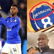 Igbo Men Celebrates Iheanacho for what they saw on his football Jersey during their last match