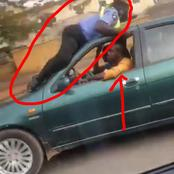 See what a taxi driver did to a traffic warden that is causing reactions on Twitter