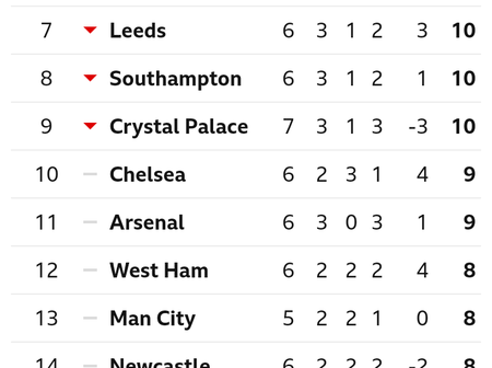 After Wolves Won Crystal Palace 2-0, This Is How The EPL Table Looks Like